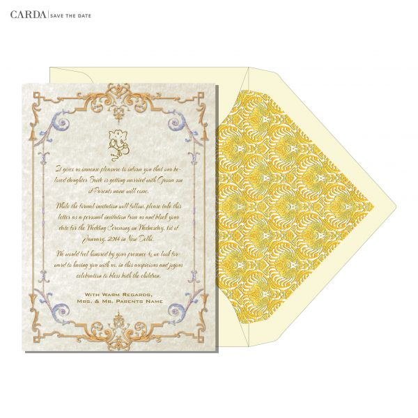 WS 12 - Save The Date Invitations