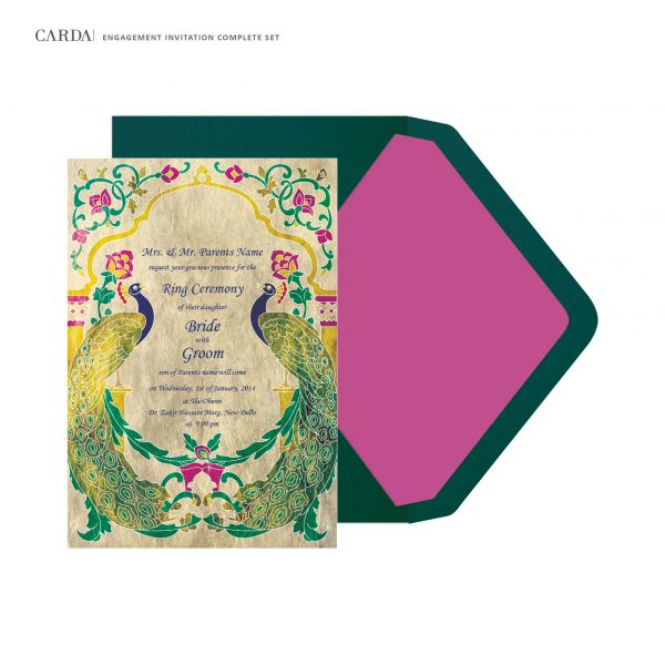 Buy online E 05 Engagement Lunch Dinner Anniversary Birthday cards – Online Engagement Invitation Cards Free